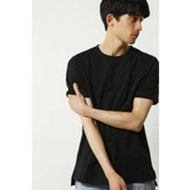 【AZUL by moussy】汗染み防止天竺クルーネック半袖T BLK
