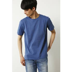 【AZUL by moussy】汗染み防止天竺クルーネック半袖T NVY