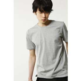 【AZUL by moussy】汗染み防止天竺クルーネック半袖T T.GRY