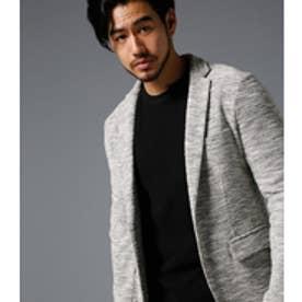 《WEB限定サマーセール》【AZUL BY MOUSSY】ランダムスラブジャージテイラードジャケット 柄GRY