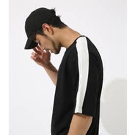 【AZUL BY MOUSSY】サイドラインクルーネック半袖ビッグT BLK