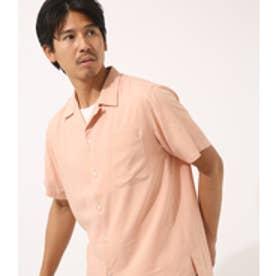 【AZUL BY MOUSSY】綿レーヨン半袖開襟シャツ PNK