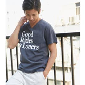【AZUL BY MOUSSY】GOODRidesピグメントVネック半袖T NVY