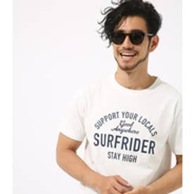 【AZUL BY MOUSSY】SURF RIDERピグメントクルーネック半袖T WHT