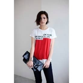 【AZUL by moussy】NY/BKLNボックスロゴT RED