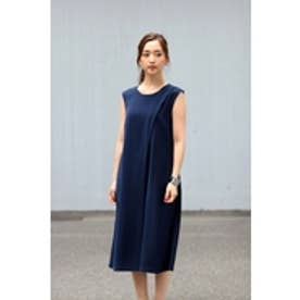 【AZUL by moussy】タックノースリオールインワン NVY