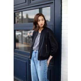 【AZUL by moussy】合繊七分ブルゾン BLK