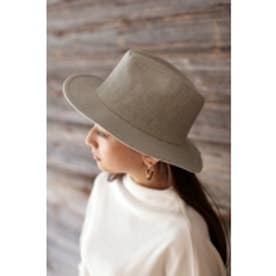 【AZUL BY MOUSSY】ツィード風中折れHAT 柄GRY