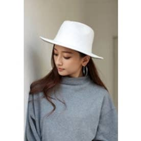 【AZUL by moussy】メルトン風中折れHAT O/WHT