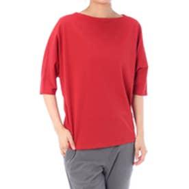 《WEB限定サマーセール》【AZUL BY MOUSSY】オーガニックコットンドルマン5分袖プルオーバー RED
