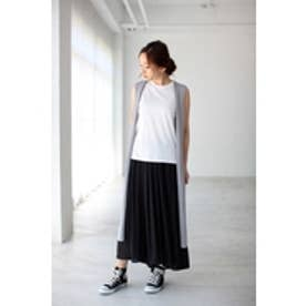 【AZUL by moussy】ミリオンアイススリットロングジレ T.GRY