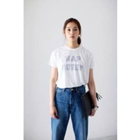 【AZUL by moussy】NAP QUEEN半袖T O/WHT