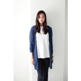 【AZUL by moussy】フーディ長袖ロングガウン NVY