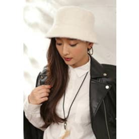 【AZUL by moussy】シャギーHAT O/WHT