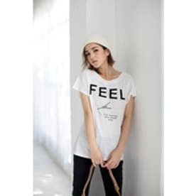 【AZUL by moussy】FEELエッフェルモチーフT O/WHT