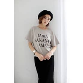 【AZUL by moussy】BANANAバックリボンT L/BEG