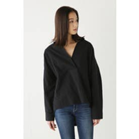 【AZUL by moussy】スキッパーシャツ BLK