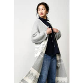 【AZUL by moussy】ポイントパターンマキシガウン 柄GRY