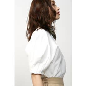 《5/31までWEB限定価格》【AZUL by moussy】袖タックボリュームカットプルオーバー O/WHT