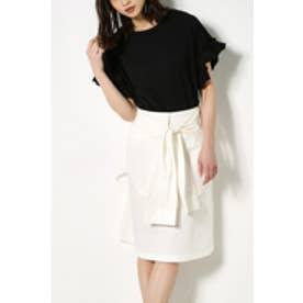 【AZUL BY MOUSSY】腰巻きリボンスカート WHT