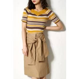 【AZUL BY MOUSSY】腰巻きリボンスカート BEG