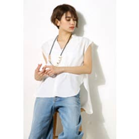 【AZUL BY MOUSSY】ノースリスキッパーシャツ O/WHT