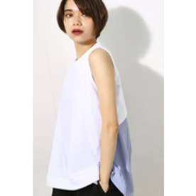 《WEB限定サマーセール》【AZUL BY MOUSSY】バックデザインドッキングトップス WHT