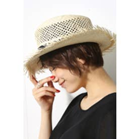 【AZUL by moussy】パナマ風HAT BLK