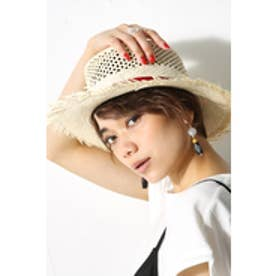 【AZUL BY MOUSSY】パナマ風HAT RED