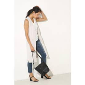 【AZUL by moussy】カットリブスリットジレ L/GRY
