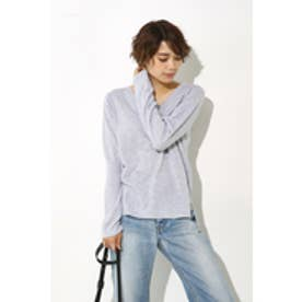 【AZUL BY MOUSSY】CRウォッシャブルVネック長袖プルオーバー T.GRY