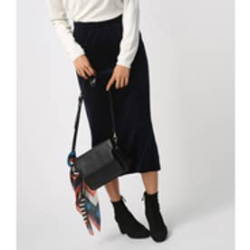 《WEB限定価格》【AZUL BY MOUSSY】カットコールミディ丈スカート NVY