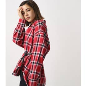 【AZUL BY MOUSSY】BIGシルエットチェックシャツ 柄RED