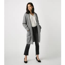 【AZUL BY MOUSSY】MIXカラーコーディガン 柄GRY