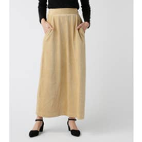 【AZUL BY MOUSSY】カットコーディロイマキシスカート BEG