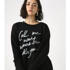 【AZUL BY MOUSSY】Call Me ロングTEE BLK