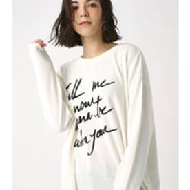 【AZUL BY MOUSSY】Call Me ロングTEE O/WHT
