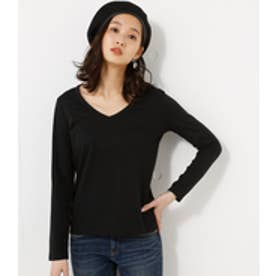【AZUL BY MOUSSY】ベーシックVネック長袖プルオーバー BLK