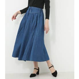 【AZUL BY MOUSSY】レースアップフレアスカート BLU