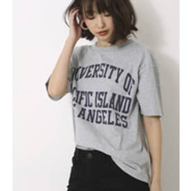 【AZUL BY MOUSSY】ルーズカレッジロゴT