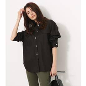 【AZUL BY MOUSSY】シンプルミリタリーシャツ BLK