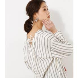 《WEB限定サマーセール》【AZUL BY MOUSSY】刺繍ストライプ2WAYチュニック 柄WHT