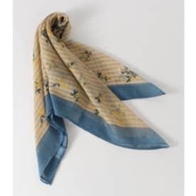 【AZUL BY MOUSSY】ストライプ小花柄スカーフ 柄BLU
