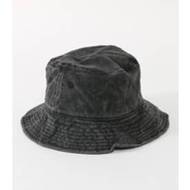 【AZUL BY MOUSSY】ウォッシュ加工バケットHAT BLK