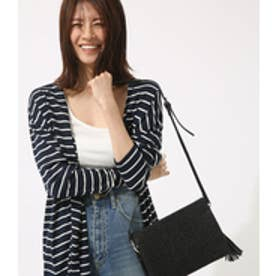 【AZUL BY MOUSSY】サイドスリット長袖ロングカーデ 柄NVY