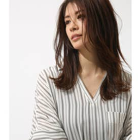 《WEB限定サマーセール》【AZUL BY MOUSSY】ルーズスキッパーシャツ 柄WHT