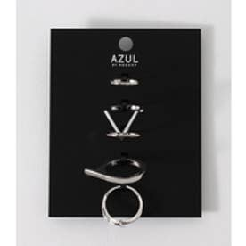 【AZUL BY MOUSSY】太メタルリングSET SLV