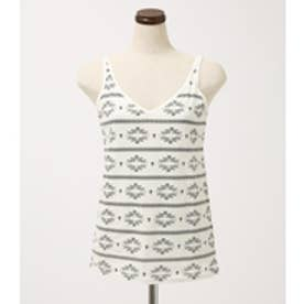 【AZUL BY MOUSSY】ネイティブ柄TANK 柄WHT