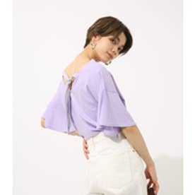 【AZUL BY MOUSSY】バックリボンフレアスリーブプルオーバー L/PUR