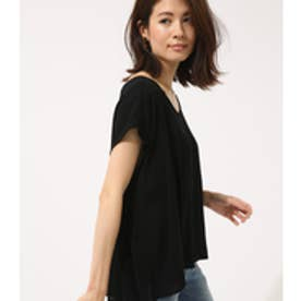【AZUL BY MOUSSY】花柄2WAYフレンチスリーブブラウス BLK